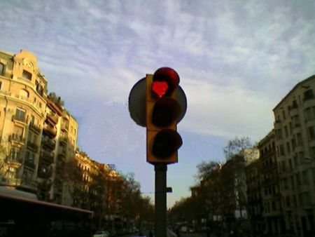 corazón de semáforo